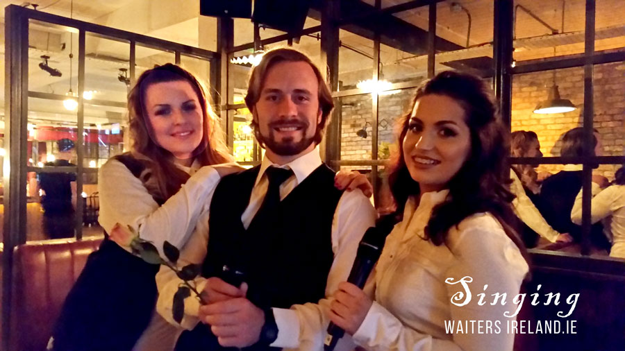 Singing waiters with Corporate Events
