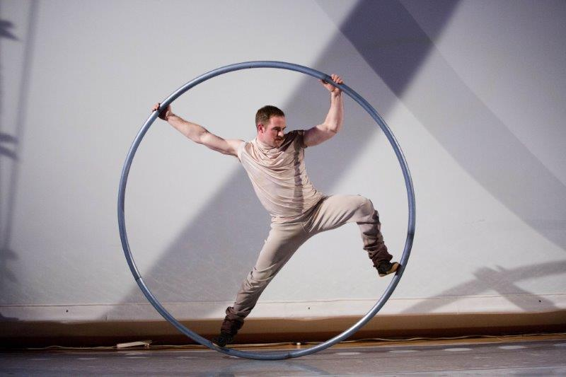 Cutting Edge CYR Wheel acrobat for hire with www.corporateevents.ie