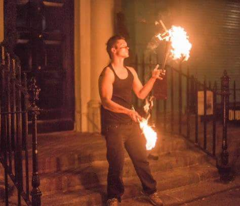 fire performer  in dublin corporate event